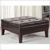 Coaster Square Storage Ottoman in Brown