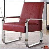 Coaster Accent Seating Leisure Chair with Metal Armsin Red
