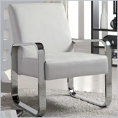 Coaster Accent Seating Leisure Chair with Metal Armsin White