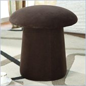 Coaster Mushroom Shaped Ottoman with Swivel in Brown