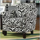 Coaster Club Chair in Zebra Print