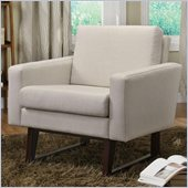 Coaster Club Chair with Exposed Wood in Beige