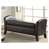 Coaster Vinyl Storage Bench with Curved Ends Faux Leather