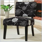 Coaster Accent Chair in Floral Black and White 