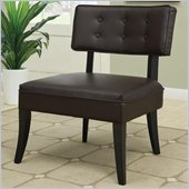 Coaster Accent Chair in Dark Brown