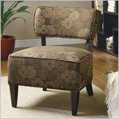 Coaster Accent Chair in Brown Floral Motif