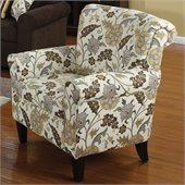 Coaster Club Chair in Brown Flower Motif