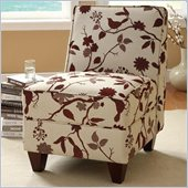 Coaster Accent Chair in White and Brown
