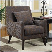 Coaster Club Chair in Luxurious Leaf Pattern