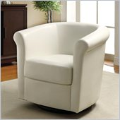 Coaster Club Chair in White Faux Leather