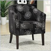 Coaster Club Chair in Silver Chrysanthemum Pattern 
