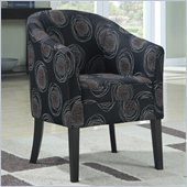 Coaster Club Chair in Black Circle Pattern
