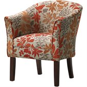 Coaster Club Chair in Autumn Leaf Pattern