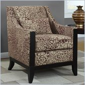 Coaster Club Chair in Decorative Wood Trim