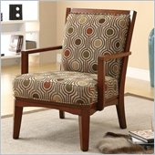 Coaster Accent Chair in Warm Walnut