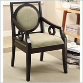 Coaster Accent Chair in Green and Cappuccino