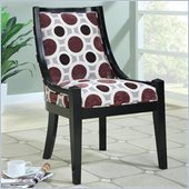 Coaster Accent Chair with Geometric Fabric and Black Wooden Border