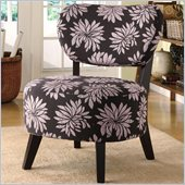 Coaster Accent Chair with Padded Seat in Dark Floral Motif