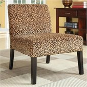 Coaster Accent Chair with Wood Legs in Leopard Print