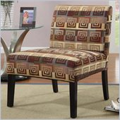 Coaster Accent Chair with Wood Legs in Spiral Pattern