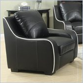Coaster Myles Bonded Leather Club Chair in Black
