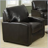 Coaster Kelsey Bonded Leather Club Chair in Rich Brown