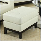 Coaster Paige Leather Ottoman in Cream