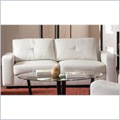 Coaster Jasmine Leather Sofa in White