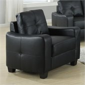 Coaster Jasmine Leather Club Chair in Black