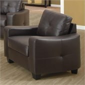 Coaster Jasmine Leather Club Chair in Dark Brown
