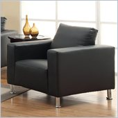 Coaster Cooper Faux Leather Club Chair in Black