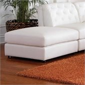 Coaster Quinn Contemporary Square Cocktail Storage Ottoman in White