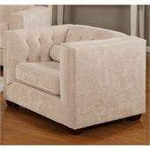 Coaster Alexis Transitional Microvelvet Club Chair in Almond