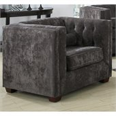 Coaster Alexis Transitional Microvelvet Club Chair in Charcoal