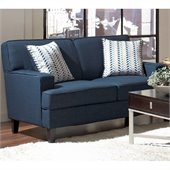 Coaster Finley Linen Love Seat in Blue