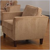Coaster Marya Club Chair in Caramel Chenille