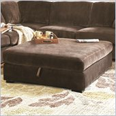 Coaster Luka Storage Cocktail Ottoman in Coffee Velvet