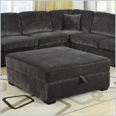 Coaster Luka Storage Cocktail Ottoman in Charcoal Velvet