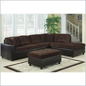 Coaster Henri L-Shaped Sectional with Reversible Chaise in Brown