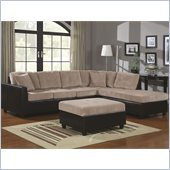 Coaster Henri L-Shaped Sectional with Reversible Chaise in Beige