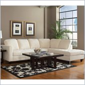 Coaster Walker Casual Sectional in Off White Velvet
