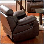 Coaster Denisa Leather Recliner Chair in Rich Brown