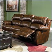 Coaster Morrell Sofa with 2 Recliners in Rich Brown