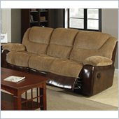 Coaster Malena Motion Sofa with Cup Holders in Chenille