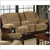 Coaster Malena Double Gliding Recliner Loveseat in Chenille