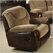Coaster Malena Glider Recliner Chair in Chenille