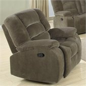 Coaster Charlie Rocker Recliner Chair in Brown Sage Velvet