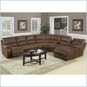Coaster Loukas Extra Long Reclining Sectional Sofa w/ Chaise in Brown