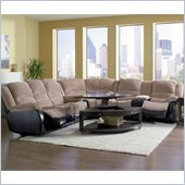 Coaster Johanna Reclining Corduroy Sectional in Tan