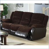 Coaster Johanna Reclining Corduroy Motion Sofa in Chocolate